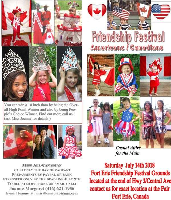 2018 FRIENDSHIP FESTIVAL - ONTARIO - MISS ALL CANADIAN PAGEANTS