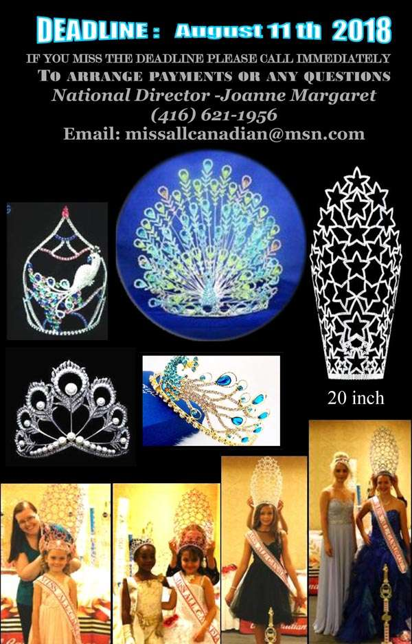 2018 INTERNATIONAL GRAND FINALS PAGEANT - ONTARIO - MISS ALL CANADIAN PAGEANTS