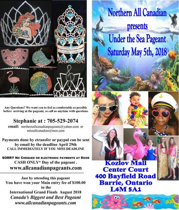 UNDER THE SEA PAGEANT - BARRIE - MISS ALL CANADIAN PAGEANTS