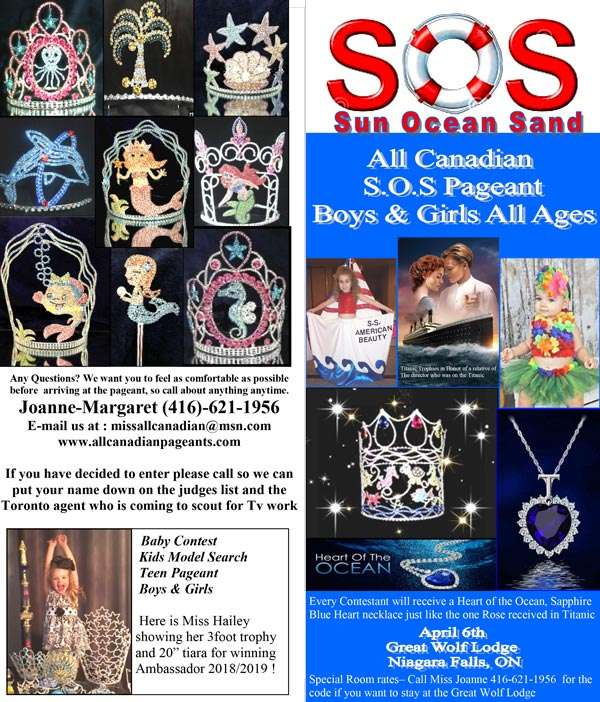 SOS Pageant - ONTARIO - Miss All Canadian Pageants
