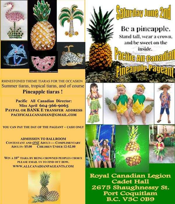 PACIFIC PINEAPPLE PAGEANT - BC - MISS ALL CANADIAN PAGEANTS