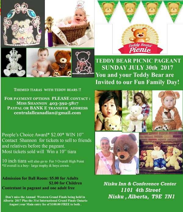 TEDDY BEAR PICNIC PAGEANT ALBERTA - MISS ALL CANADIAN PAGEANTS